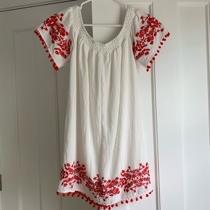 FOREVER 21 White and Red Dress